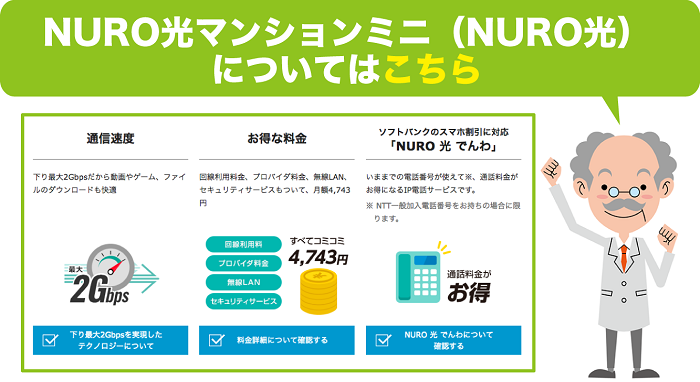 NURO光マンションミニについて解説