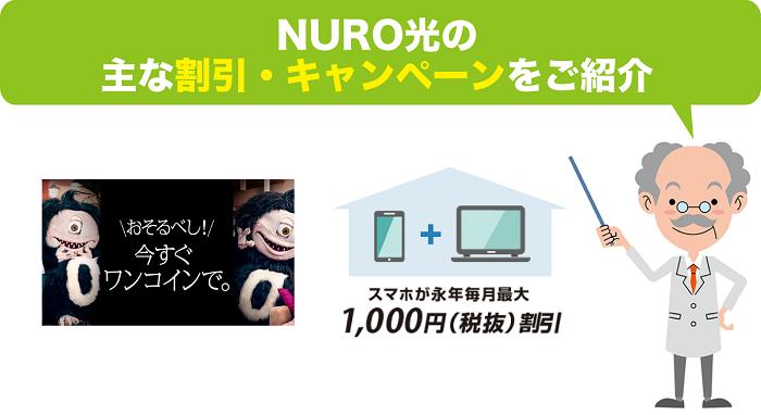 NURO光の割引・キャンペーンについて